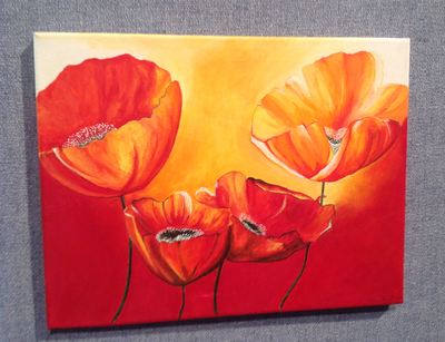 Poppies painted
