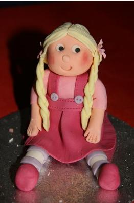 Baby doll cake decoration