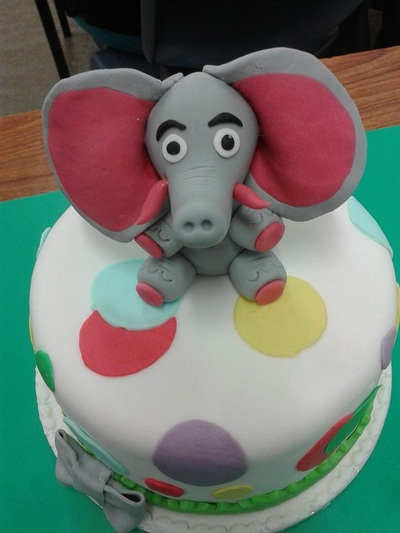 Elephant cake for birthday