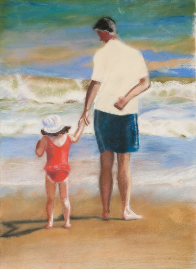 Parent and child painting