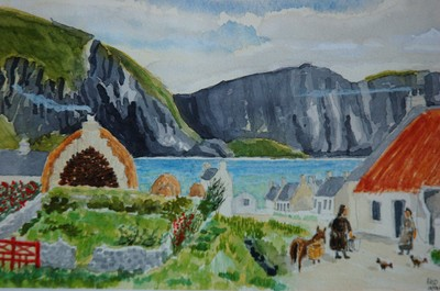 Irish rural life painting