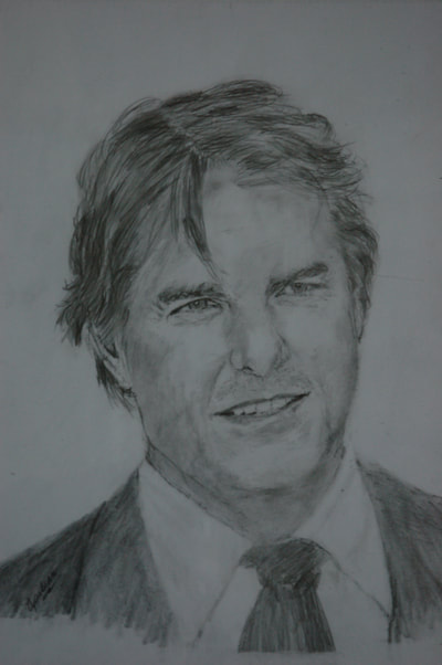 Sketch of Tom Cruise