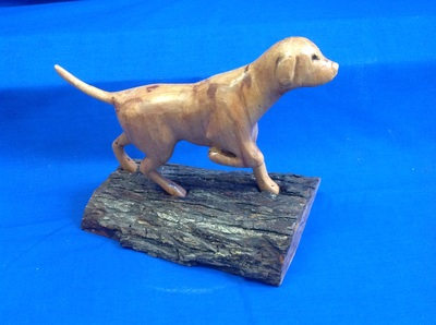 Carved dog